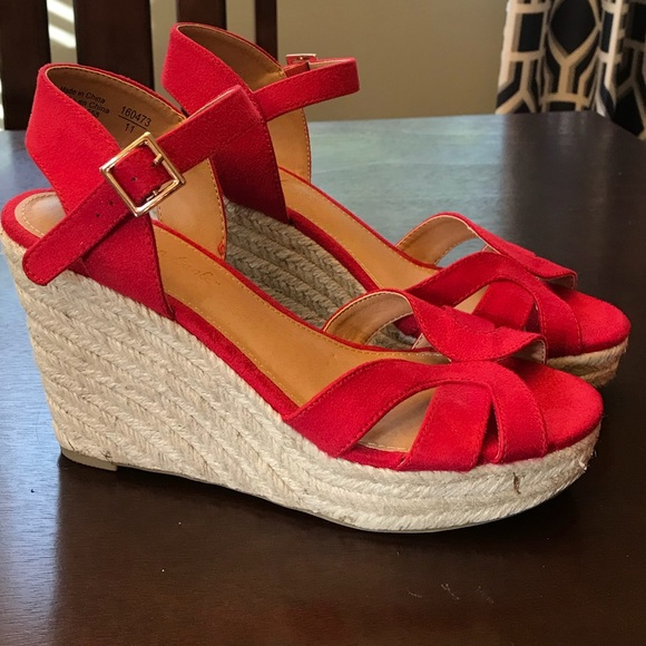 cf63bd066ddd American Eagle By Payless Shoes - NWOT American Eagle Red Wedges Size 7